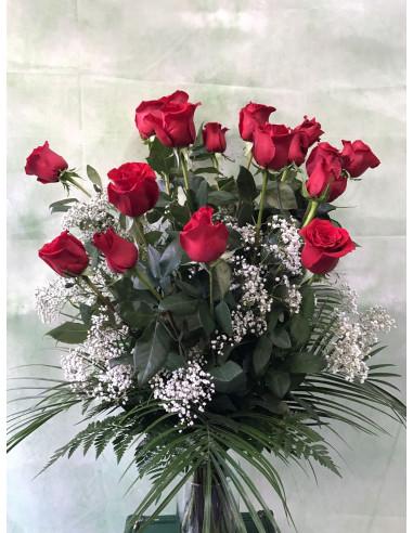 Ramo Funerario de Rosas rojas
