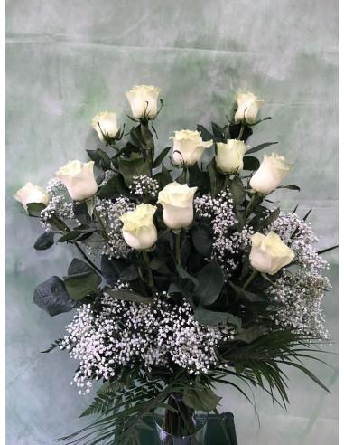 Ramo Funerario de Rosas blancas