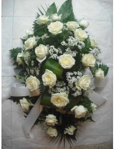 Palma de rosas blanca pequeña