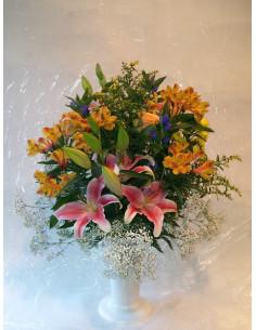 Jarrón de flor variada